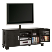60'' Black Wood TV Stand with Mount