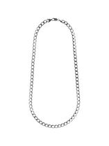 "Sterling Silver 22"" Men's Chain with Heavy Curb Links"