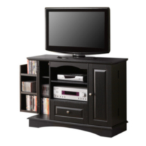 "42"" Black Highboy Style TV Stand"