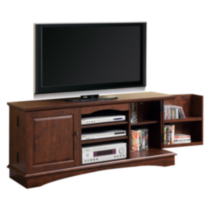 "60"" Brown Wood TV Stand with Storage"