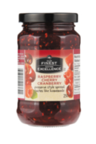 Our Finest Raspberry Cherry Cranberry Preserve Style Spread