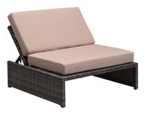 Zuo Modern Outdoor 1-Piece Synthetic Weave Brown & Beige Delray Reclining Single Seat