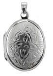 Sterling Silver Large Oval Locket