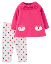 Child of Mine made by Carter's Newborn Girl's 2 piece Kitty Outfit Set 6-9M