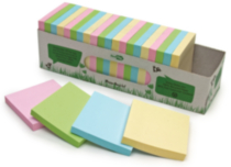 "Redi-Tag® Recycled Self-Stick Notes 3x3"" Cabinet Pack"