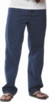 George Straight Leg Jeans - Medium Blue 32x30
