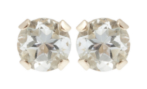 10kt-Yellow-Gold-3-mm-genuine-Aquamarine-stud-Earrings