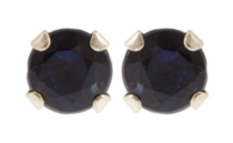 10kt Yellow Gold 3 mm genuine Sapphire stud Earrings