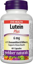 Webber Naturals® Lutein with Bilberry Extract and Multi-Anthocyanidins, 6 mg, 60 capsules