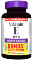 Webber Naturals® Vitamin E, Natural Source, 400 IU