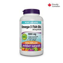 Webber Naturals® Omega-3 Fish Oils 1000 mg Softgels