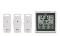 Digital indoor/outdoor thermometer w 3 sensors