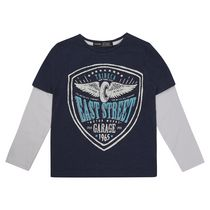 George British Design Boys' East Street Long Sleeved Fooler Tee 6-8