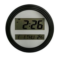 Mainstays Black Digital Wall Clock