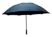 Eagles Series 62'' Black Umbrella