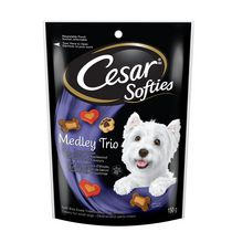 Cesar Softies Medley Trio Smocked Bacon Flavour Soft Bite Sized Treats