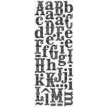 K&Company Adhesive Chipboard Alphabet Black