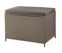 Patio Flare Ferrara Wicker Deck Box Bench - Brown, 599 Gallon