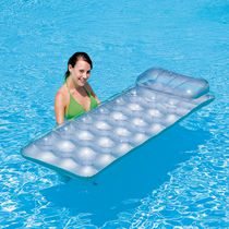 Splash & Play Metal Tech 18-Pocket Inflatable Pool Lounge Float