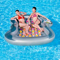 Splash & Play Double Designer Inflatable Pool Lounge Float