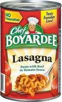 Chef Boyardee® Lasagna Pasta with Beef In Tomato Sauce