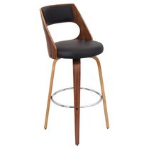 LumiSource Brown Cecina Barstool