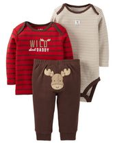 Child of Mine made by Carter's Newborn Boy's 3 piece Moose Outfit Set 18M