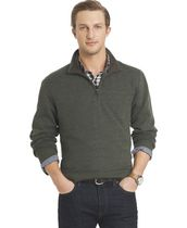 Arrow Men's 1/4 Zip Sueded Fleece Popover Sweatshirt Large