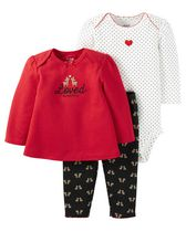 Child of Mine by Carter's Newborn Girl's Loved 3-Piece Wwardrobe Essential Set 18M