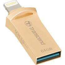 Disque flash USB en or de 64 Go JetDrive de Transcend