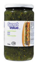 Relish verte sucrée de Great Value