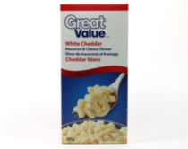 Macaroni et fromage au cheddar blanc de Great value