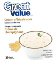 Great Value Cream of Mushroom Condensed Soup