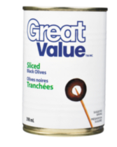Olives noires tranchées de Great Value