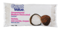 Great Value Unsweetened Medium Desiccated Coconut