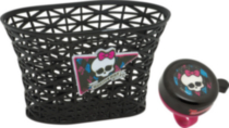 Panier et sonnette Monster High