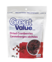 Canneberges sechées Great Value
