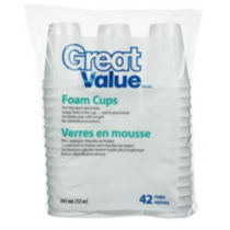 Great Value Foam Cups