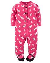 Child of Mine by Carter's Newborn Girls' Dog Printed Sleep & Play Outfit 0-3