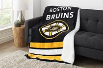 Sunbeam Boston Bruins® Heated Reversible Sherpa Throw