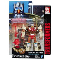 Transformers Generations Titans Return Titan Master Autobot Stylor and Chromedome Action Figures