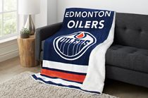 Sunbeam Edmonton Oilers® Heated Reversible Sherpa Throw