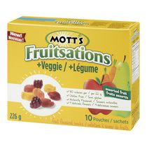 Collations à saveur de fruits Fruitsations + Légume de Mott's - fruits assortis