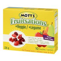 Collations à saveur de fruits Fruitsations + Légume de Mott's - petits fruits