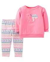 Child of Mine made by Carter's Newborn Girl's Squirrel Printed 2-Piece Outfit Set 18M