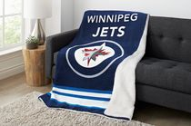 Sunbeam Winnipeg Jets® Heated Reversible Sherpa Throw