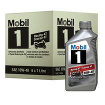 Mobil 1 Racing 4T Advanced Synthetic 4 Cycle Motorcycle Oil, 10W-40