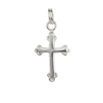 Sterling Silver Fancy Cross Charm
