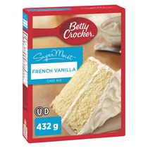 Mélange à gateau SuperMoistMC de Betty CrockerMC - Vanille française
