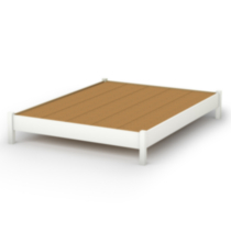 South Shore SoHo Collection Queen Size Platform Bed White Queen